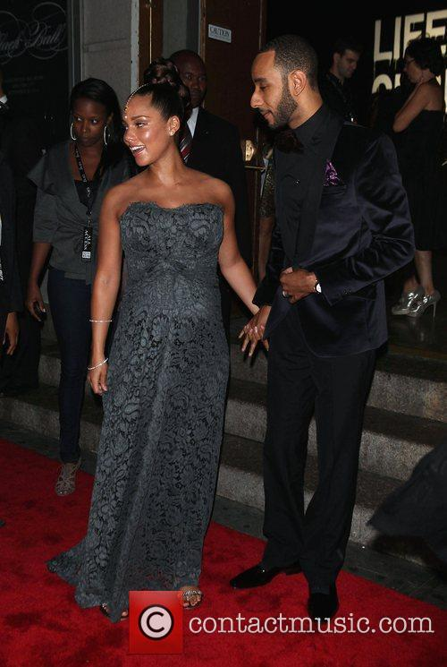 Alicia Keys, Black Ball and Swizz Beatz 3