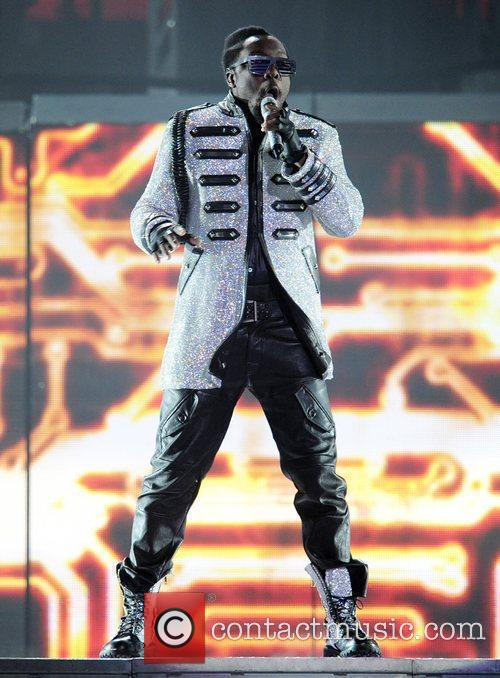 Will.i.am of the Black Eyed Peas performing at...