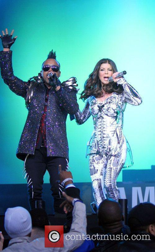 The Black Eyed Peas perform live at Samsung's...