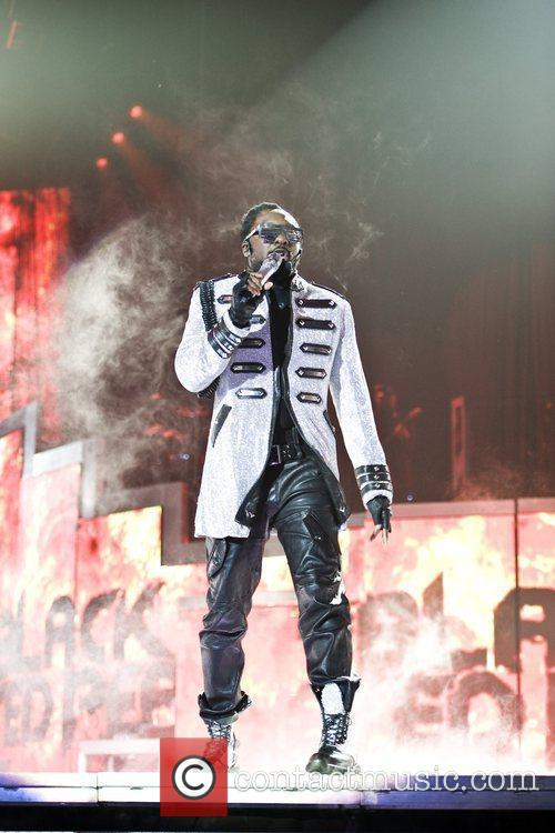 Will.i.am Black Eyed Peas perform live at the...