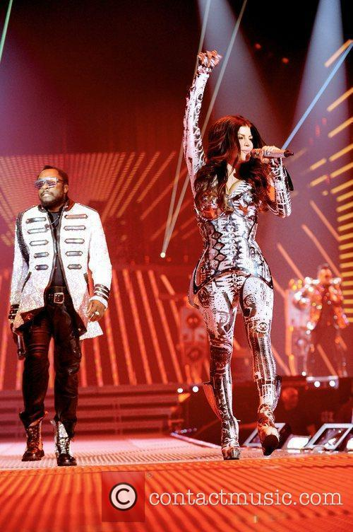 The Black Eyed Peas perform during 'The End'...