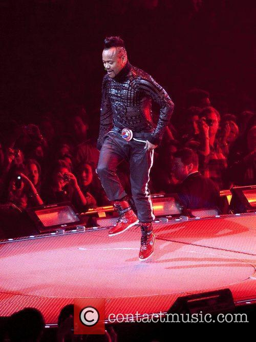 apl.de.ap of the Black Eyed Peas performing live...
