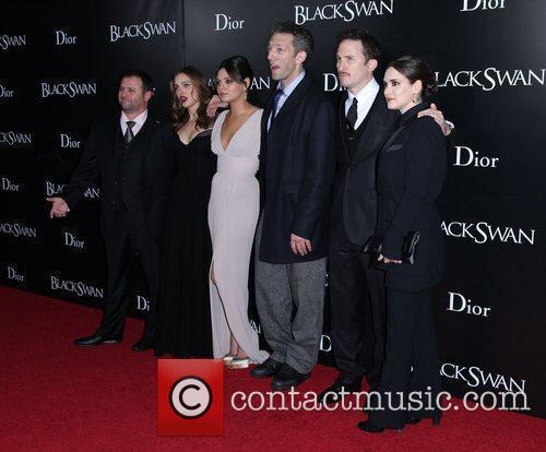 Natalie Portman, Darren Aronofsky, Mila Kunis, Vincent Cassell and Winona Ryder 2
