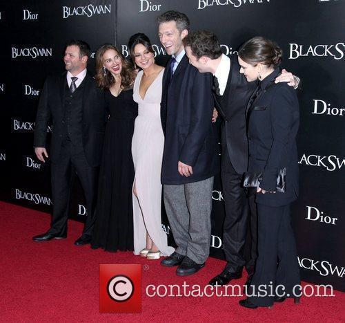 Natalie Portman, Darren Aronofsky, Mila Kunis, Vincent Cassell and Winona Ryder 3