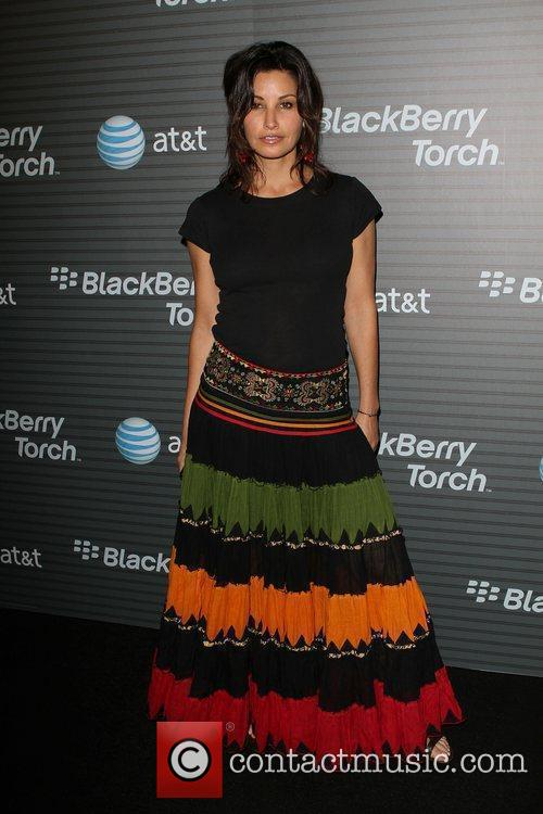 Gina Gershon Blackberry Torch From AT&T U.S. Launch...