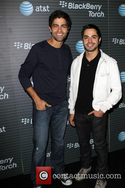 Adrian Grenier and Guest Blackberry Torch From AT&T...
