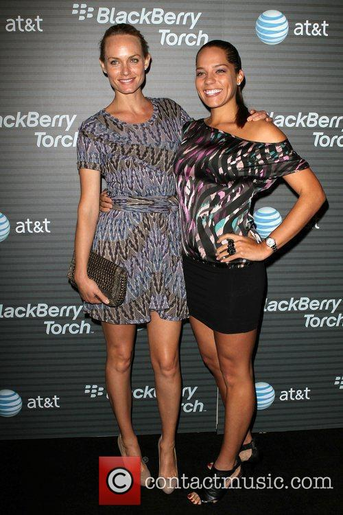 Amber Valletta and her cousin Blackberry Torch From...