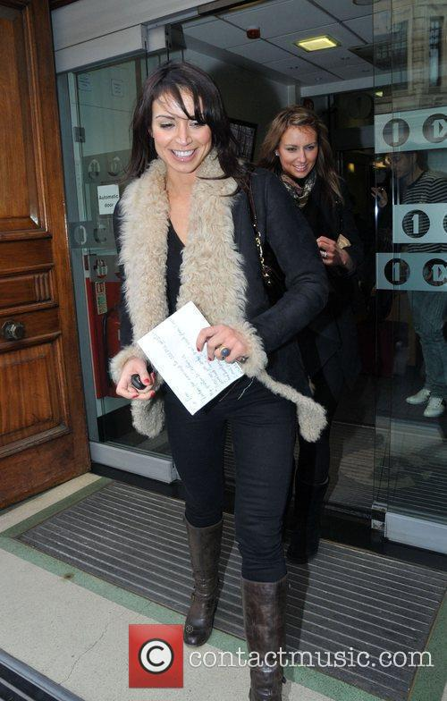 Leaving the Radio One Studios.