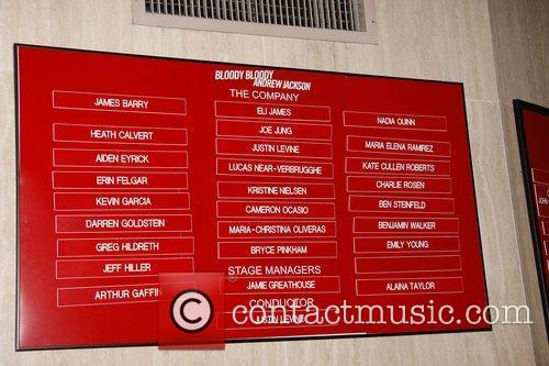 Closing night of the Broadway musical production of...