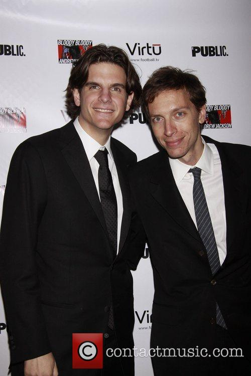 Alex Timbers and Michael Friedman Opening night of...
