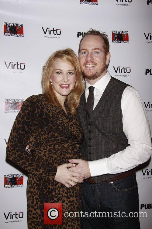 Katie Finneran and Darren Goldstein Opening night of...