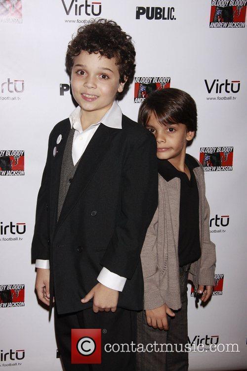 Cameron Ocasio and Aiden Eyrick Opening night of...