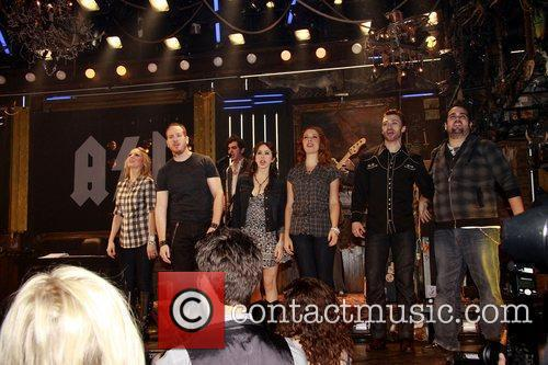 Darren Goldstein and cast Opening night of the...
