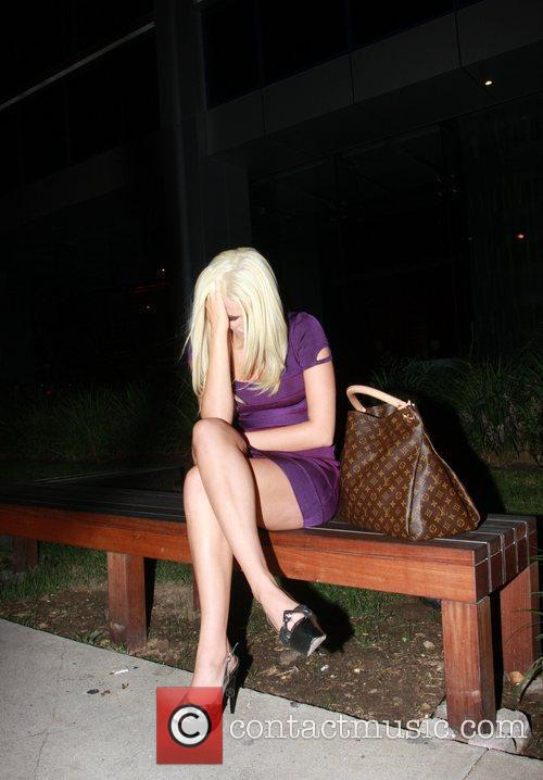 Sits outside Boa restaurant after having dinner with...