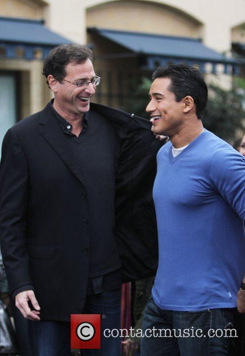 Bob Saget and Mario Lopez at The Grove...