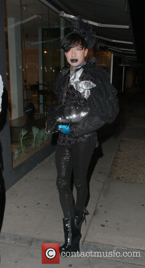 Bobby Trendy outside Madeo restaurant in West Hollywood...