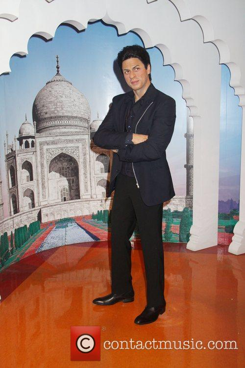 The waxwork unveiling of the Indian film star...