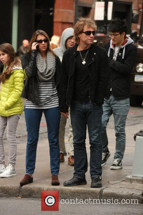 Jon Bon Jovi and Dorothea Hurley out shopping...