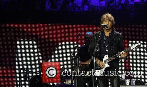 Bon Jovi perform at the 02 arena as...
