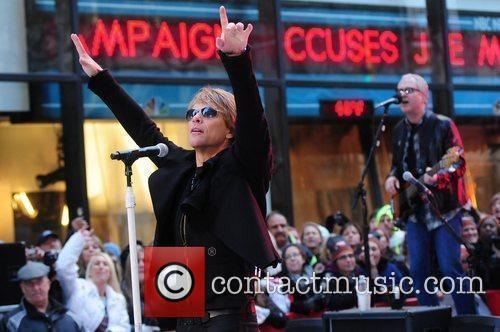 Bon Jovi performing live at the Rockefeller Center...