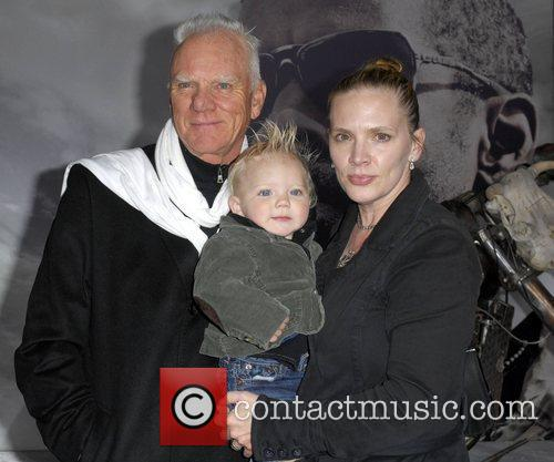 Malcolm McDowell with wife Kelley McDowell and son...