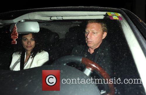 Boris Becker and Sharlely Becker leaving The Lanesborough...