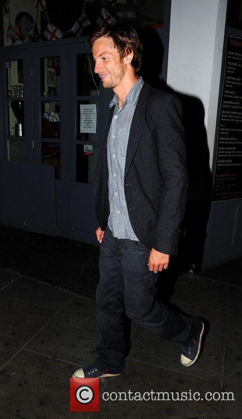 Formula 1 racing driver Jenson Button leaves Boujis...