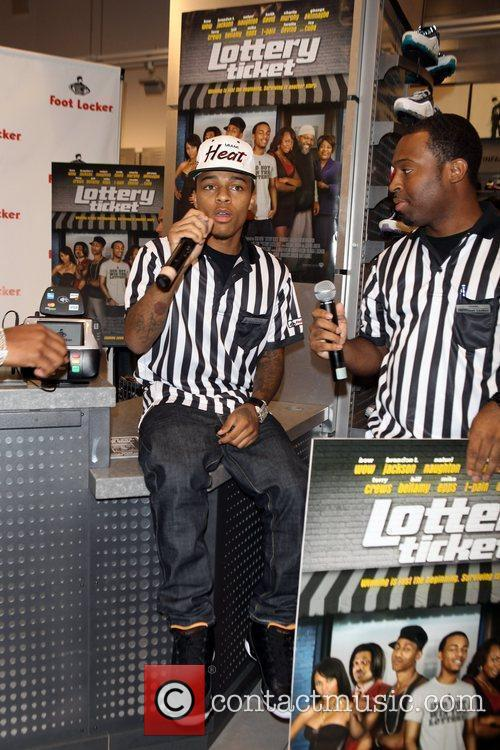 Bow Wow  promotes 'Lottery Ticket' at Foot...