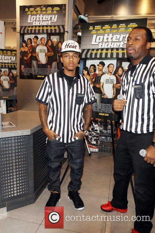 Promotes 'Lottery Ticket' at Foot Locker, Herald Square