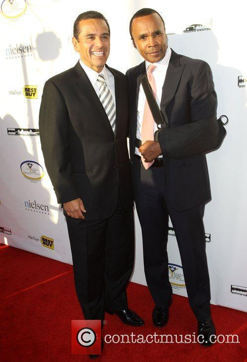 LA Mayor Antonio Villaraigiosa and 'Sugar' Ray Leonard...