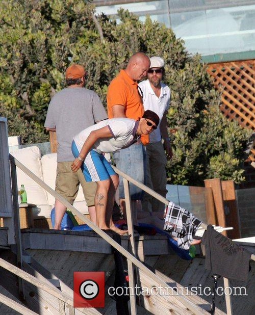 Brad Pitt enjoys a day on Malibu Beach...