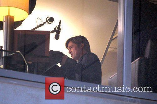Brad Pitt  Filming on set of his...