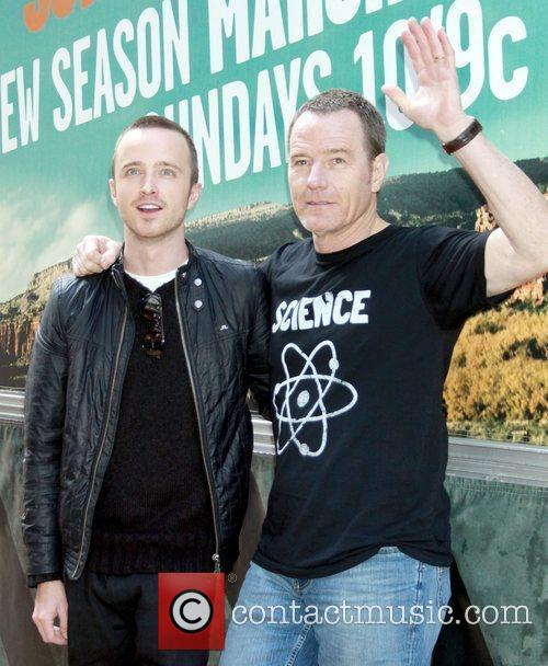 Promoting the tv show 'Breaking Bad' during a...