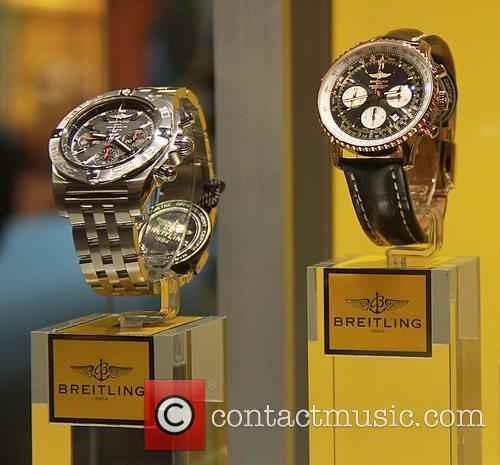 Breitling Flagship Boutique opening at 5th Avenue on...