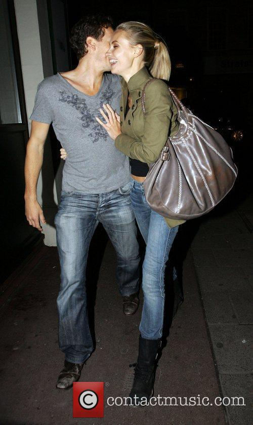 Brendan Cole and girlfriend Zoe Hobbs arriving back...