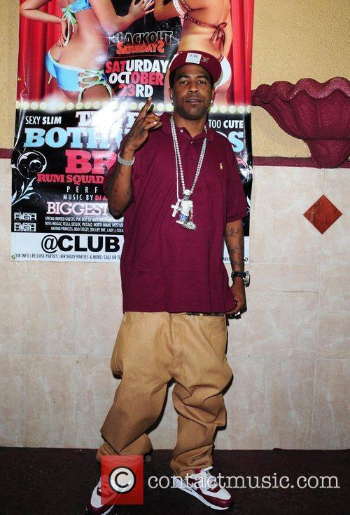 Rapper Brisco performs at Club Angels in Miami.