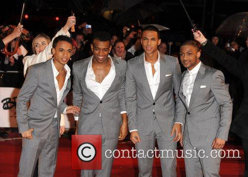 Aston Merrygold, Oritse Williams, Marvin Humes, Jonathan Gill, aka JB ofJLS, Brit Awards