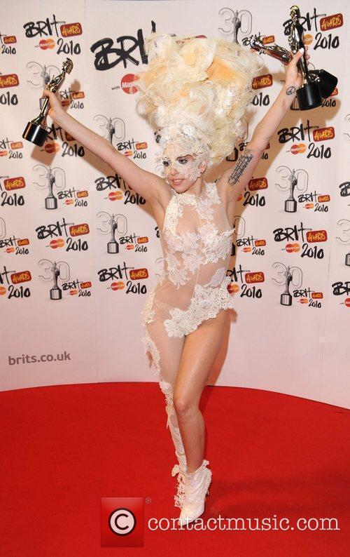 Lady Gaga The BRIT Awards 2010 - 30th...