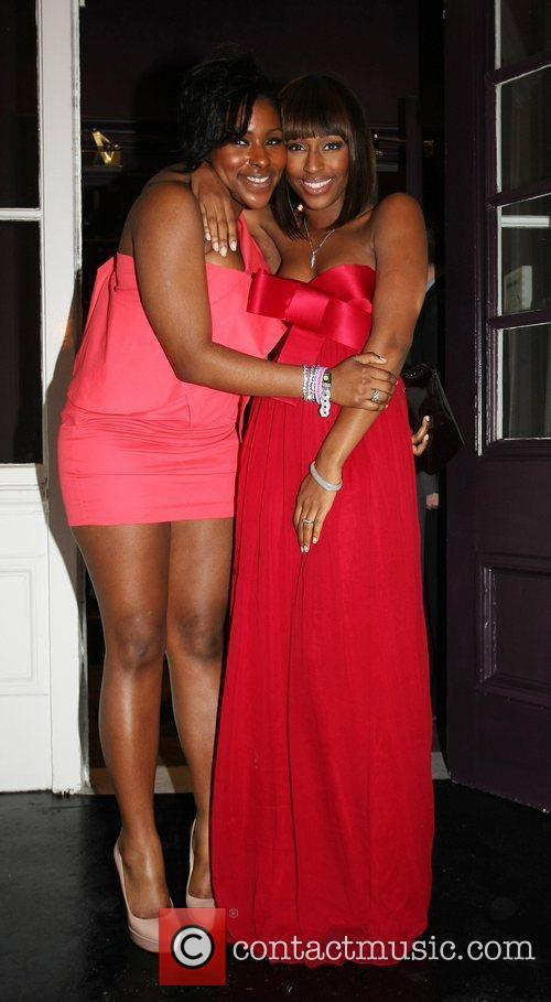 Alexandra Burke and guest The BRIT Awards 2010...