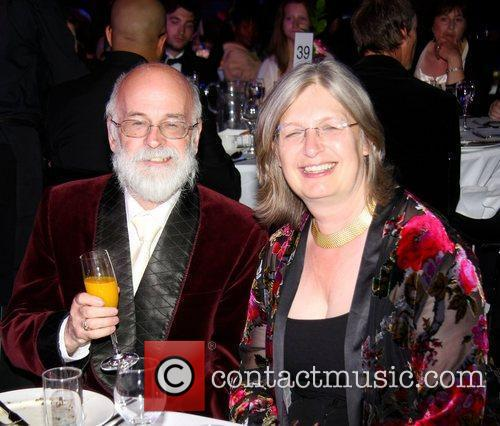 Terry Pratchett and Phillapa Dickenson at the Brit...