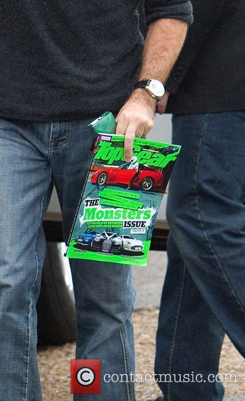 Simon Cowell carrying a 'Top Gear' magazine The...