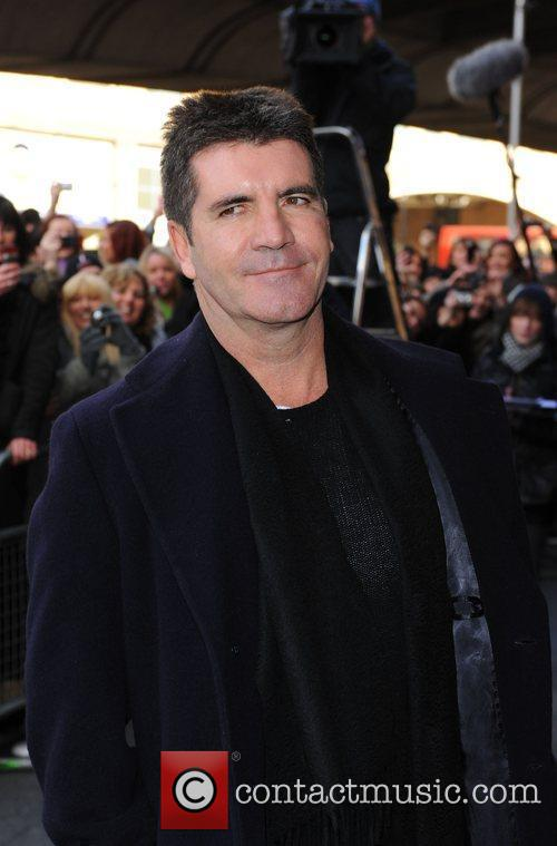 Simon Cowell The judges arrive for the 'Britains...