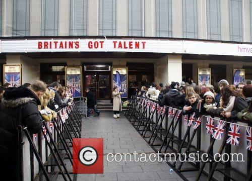 Outside the London auditions of 'Britain's Got Talent'...