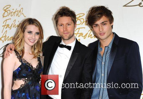 Emma Roberts, Christopher Bailey and Douglas Booth 11