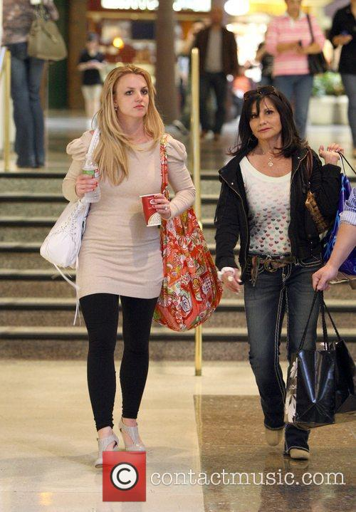 Singer Britney Spears  leaves the mall with...