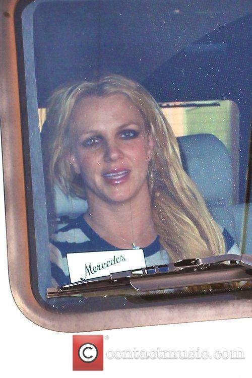 Britney Spears leaves a studio in North Hollywood...
