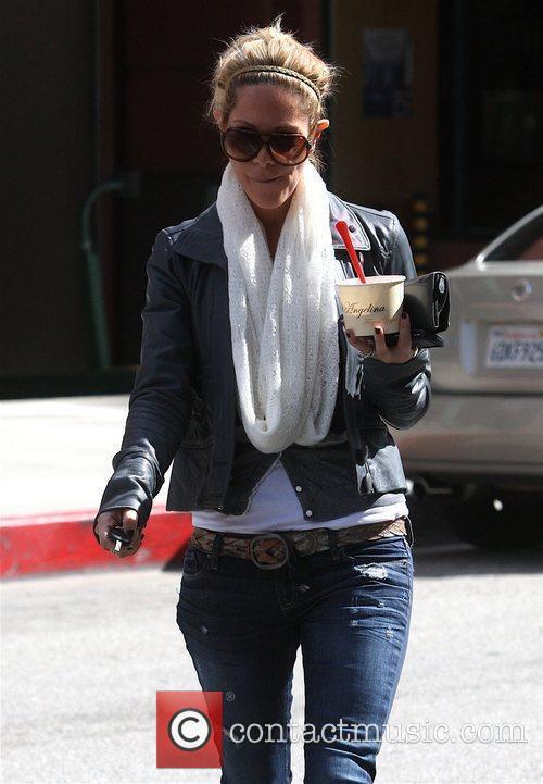 Seen leaving 'Angelina Frozen Yogurt' in Beverly Hills