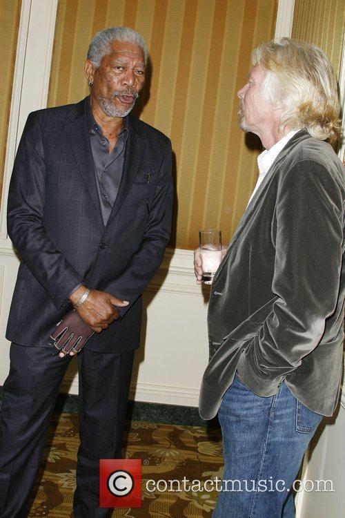 Morgan Freeman and Sir Richard Branson BritWeek 2010...