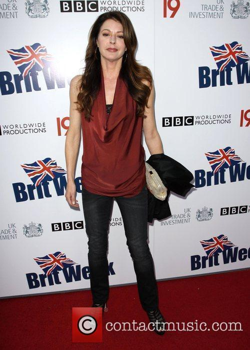 Jane Leeves Champagne Launch of BritWeek at the...