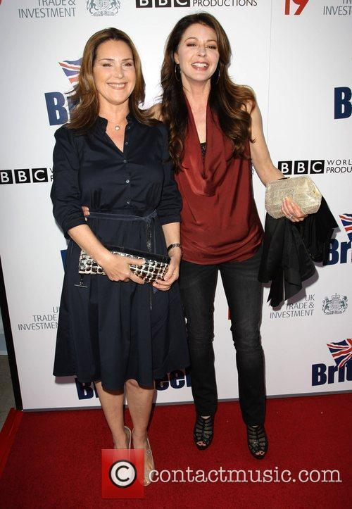 Peri Gilpin, Jane Leeves Champagne Launch of BritWeek...